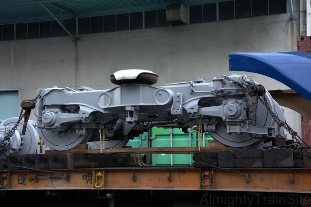 500系の先頭車両の先頭部分専用の台車