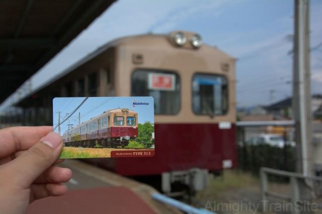 駅員さんからもらったカードと共に