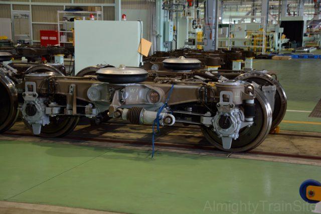 W1編成6号車の1位側に装着される台車